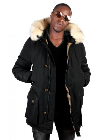 boutique streetwear Parka  GODILLE BLACK  paris fashion sportswear homme royal wear