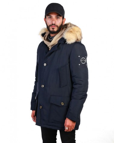 boutique streetwear Parka  GODILLE NAVY  paris fashion sportswear homme royal wear