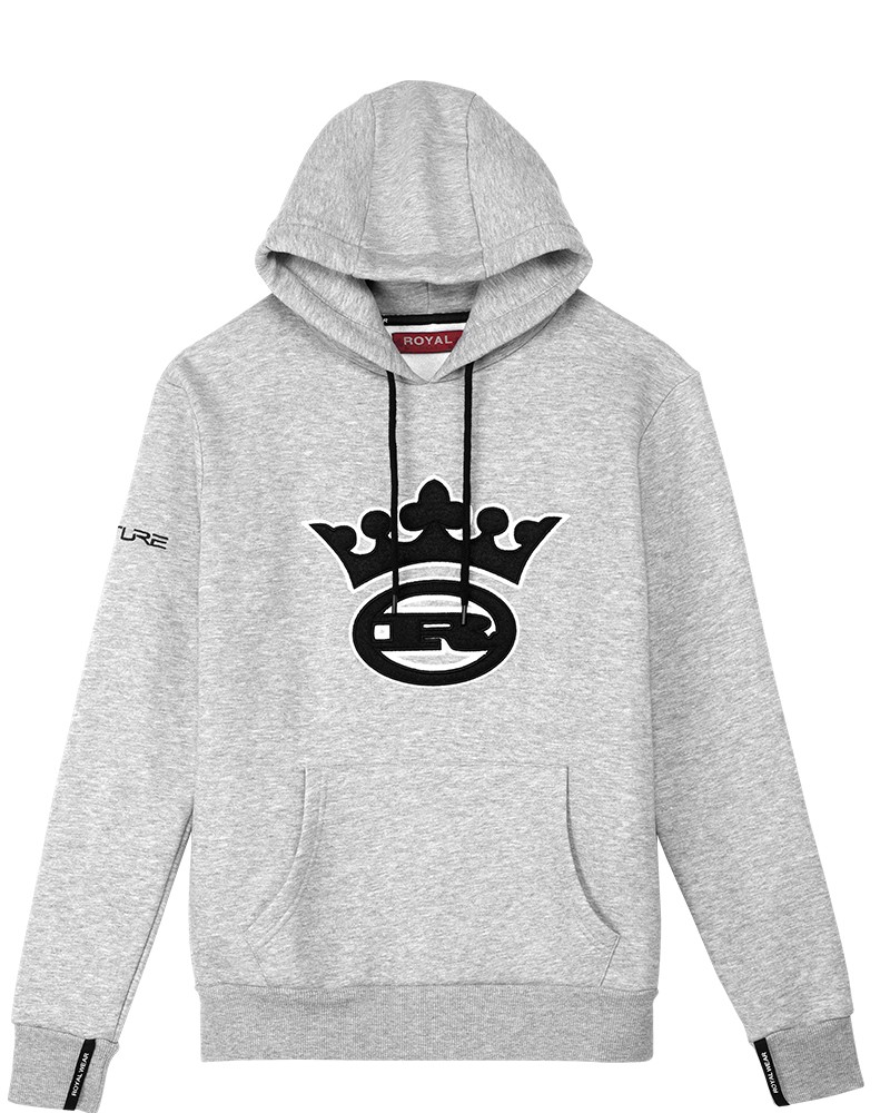 boutique streetwear HOODIES  King Gris Chiné  paris fashion sportswear homme royal wear