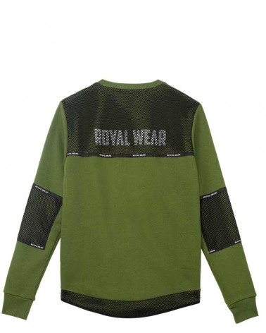 boutique streetwear SWEATSHIRT  DESWAY KAKI  paris fashion sportswear homme royal wear