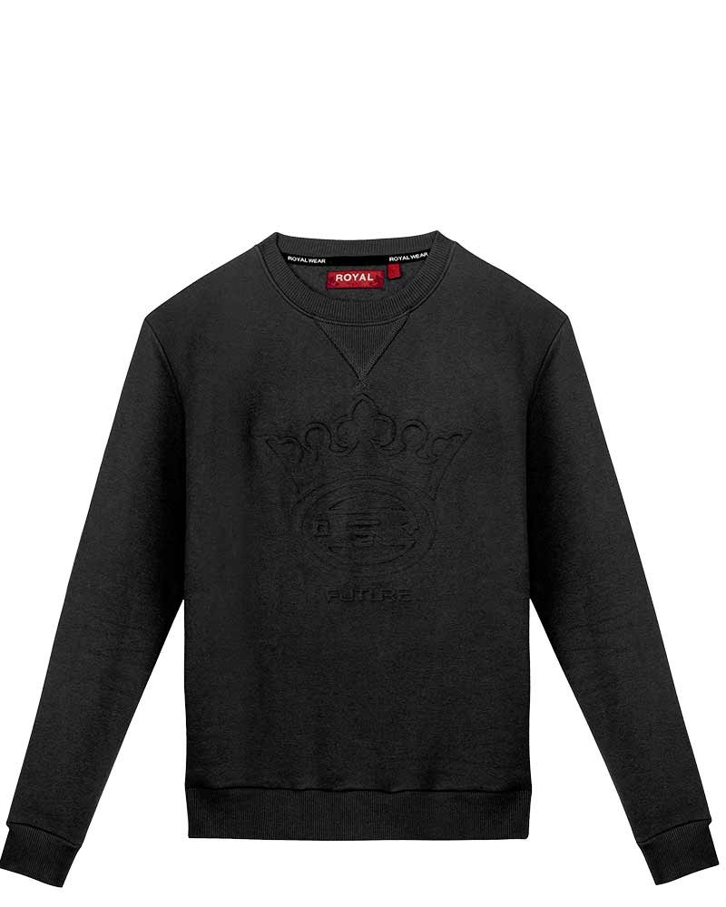 boutique streetwear SWEATSHIRT  Obrian Black  paris fashion sportswear homme royal wear